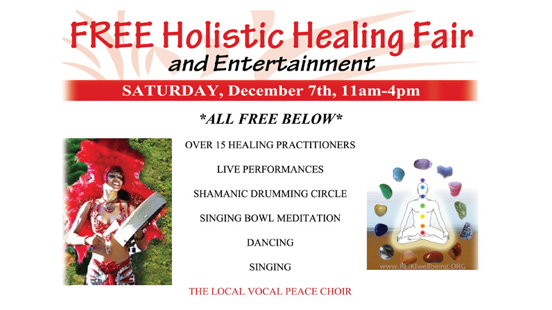 FREE Healing and Entertainment at Holistic Healing Fair