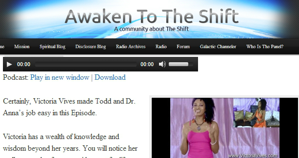 Radio Interview for AWAKENING TO THE SHIFT