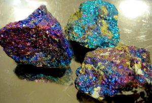 3 bornite stone that has a different color