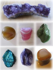 an image with different healing crystals