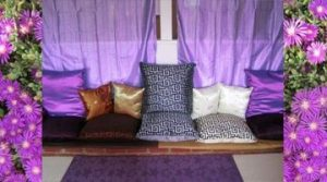 an image of a room with different kinds of pillow sizes