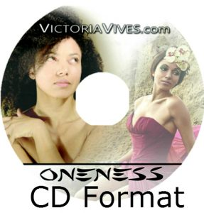 an image of a cd with a picture of a curly haired women at the left and a woman wearing a red dress and a hole in the middle of the cd