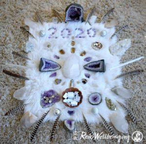 Reiki Wellbeing crystal grid 2020